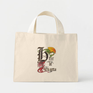 Here Be Dragons Mini Tote Bag