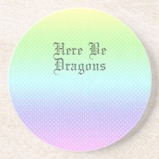 Here Be Dragons, Rainbow Pattern Coaster