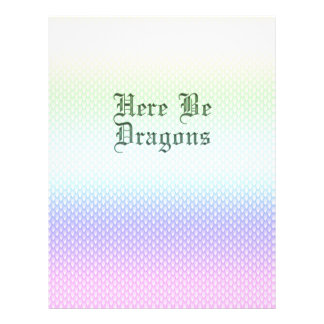 Here Be Dragons, Rainbow Pattern Letterhead