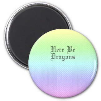 Here Be Dragons, Rainbow Pattern Magnet