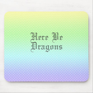 Here Be Dragons, Rainbow Pattern Mouse Pad