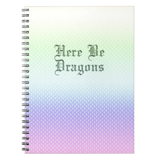 Here Be Dragons, Rainbow Pattern Notebook
