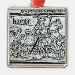 'Here Begynneth the Knightes Tale' Metal Ornament