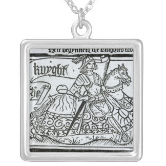 'Here Begynneth the Knightes Tale' Silver Plated Necklace