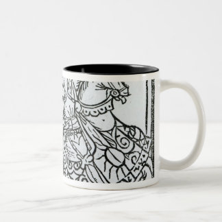 'Here Begynneth the Knightes Tale' Two-Tone Coffee Mug