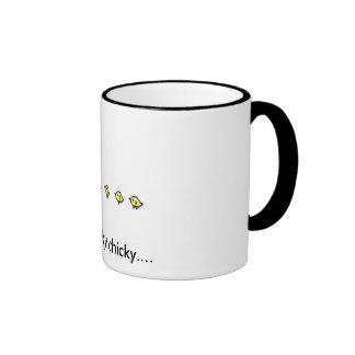 here chicky chicky ringer mug