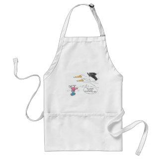 Here Comes Baby Adult Apron
