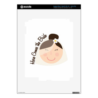 Here Comes Bride Decals For iPad 3