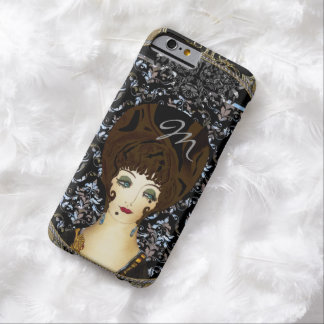 Here Comes Brunette Beauty Monogram Barely There iPhone 6 Case