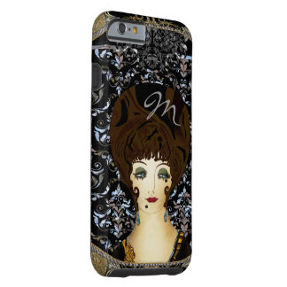 Here Comes Brunette Beauty Monogram Tough iPhone 6 Case