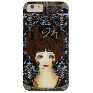 Here Comes Brunette Beauty Monogram Tough iPhone 6 Plus Case