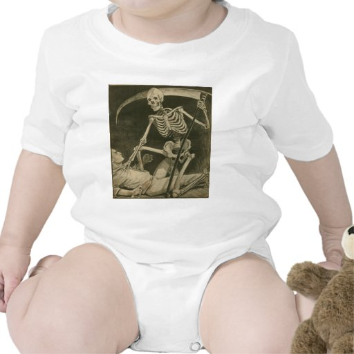 Here Comes Death! Baby Bodysuits