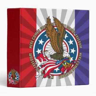 Here Comes Freedom American Bald Eagle Vinyl Binder