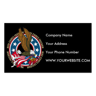 Here Comes Freedom American Bald Eagle Business Card