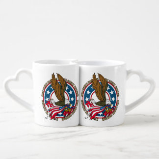 Here Comes Freedom American Bald Eagle Coffee Mug Set