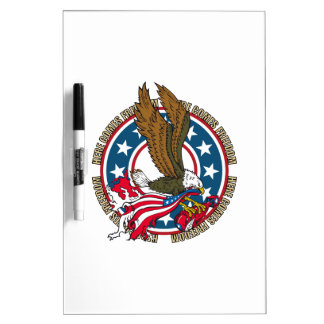 Here Comes Freedom American Bald Eagle Dry-Erase Board