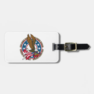 Here Comes Freedom American Bald Eagle Luggage Tag