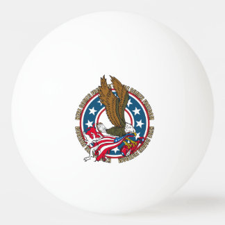 Here Comes Freedom American Bald Eagle Ping-Pong Ball