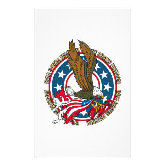 Here Comes Freedom American Bald Eagle Stationery