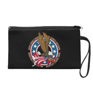 Here Comes Freedom American Bald Eagle Wristlet