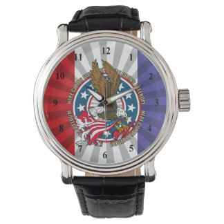 Here Comes Freedom American Bald Eagle Wristwatch