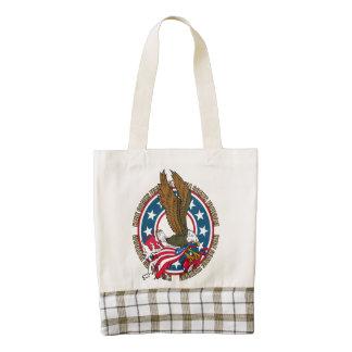 Here Comes Freedom American Bald Eagle Zazzle HEART Tote Bag