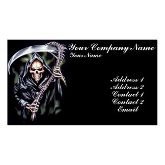 Here Comes Grim Double-Sided Standard Business Cards (Pack Of 100)