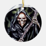 Here Comes Grim Christmas Ornament