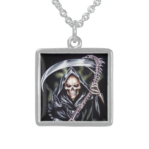 Here Comes Grim Custom Necklace