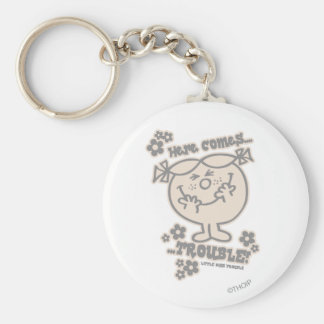 Here Comes Little Miss Trouble Keychain