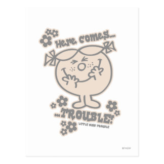 Here Comes Little Miss Trouble Postcard