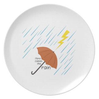 Here Comes Rain Dinner Plate
