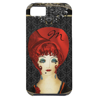 Here Comes Red Girly Monogram iPhone SE/5/5s Case