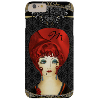 Here Comes Red Monogram Barely There iPhone 6 Plus Case