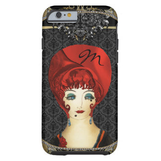 Here Comes Red Monogram Tough iPhone 6 Case