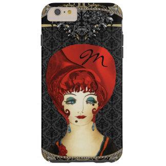 Here Comes Red Monogram Tough iPhone 6 Plus Case