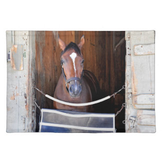 Here Comes Rosie in her Stall Cloth Place Mat
