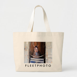 Here Comes Rosie in her Stall Large Tote Bag