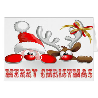 Here Comes Santa Claus Card