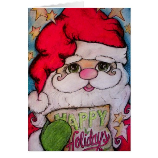 Here Comes Santa Claus Cards