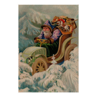 Here Comes Santa Claus! Extra Large Poster