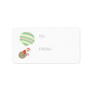 Here Comes Santa Claus GIFT-TAG Label
