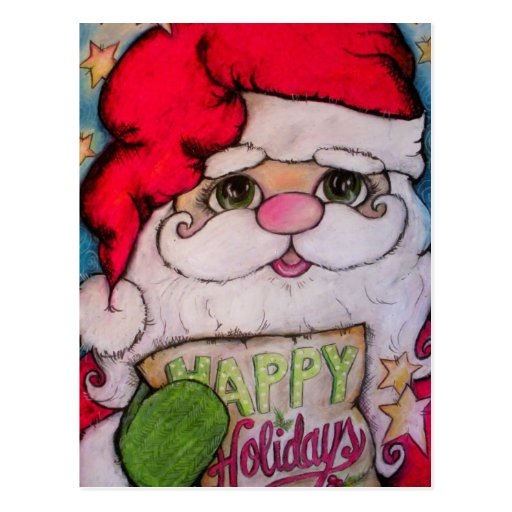 Here Comes Santa Claus Post Cards