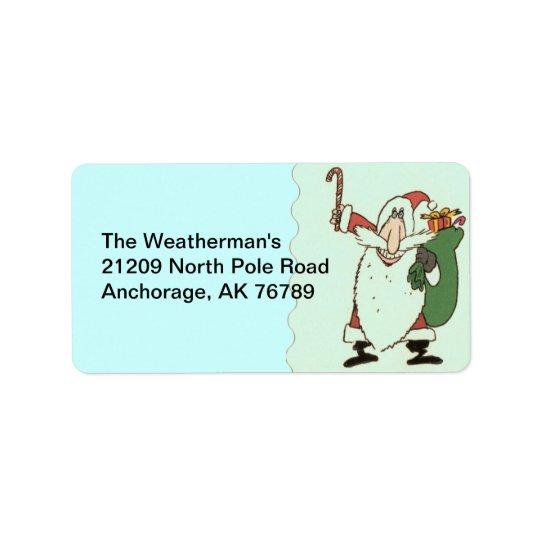 Here Comes Santa Return Address Label
