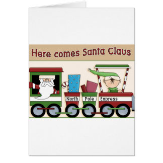 Here comes Santa train Card