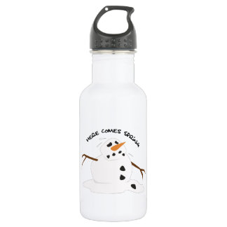 Here comes spring 18oz water bottle