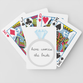 Here Comes the Bride Diamond Ring Bicycle Playing Cards