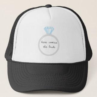 Here Comes the Bride Diamond Ring Trucker Hat