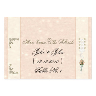Here Comes The Bride Placement Cards Business Cards