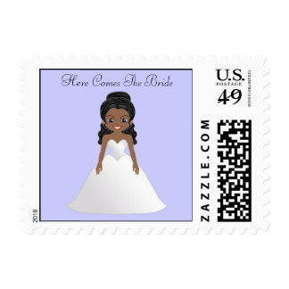 Here Comes The Bride Postage Stamp